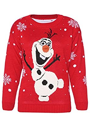 Womens Ladies Novelty Olaf Frozen Style Christmas Jumper