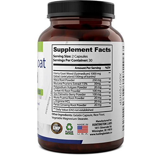BEST MALE ENHANCEMENT -Horny Goat Weed Supplement with ...