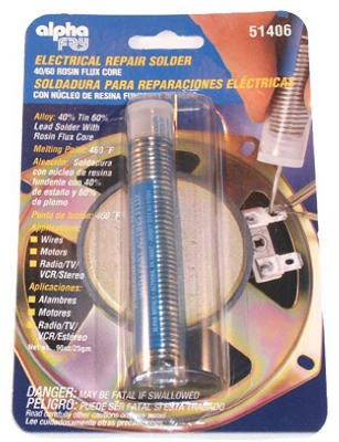 Alpha Fry AM51406 Rosin Core Solder & Dispenser