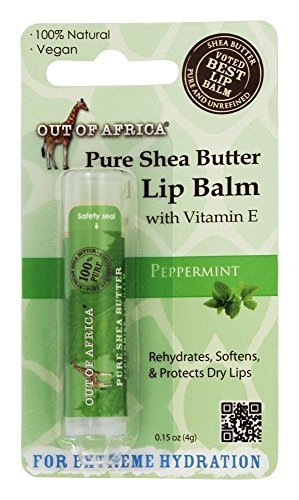 Out Of Africa - Pure Shea Butter Lip Balm Peppermint - 0.15 oz. (pack of 2) June Jacobs Redness Diffusing Serum 1oz