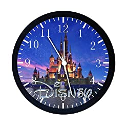 Extra Large Size 14 Disney Castle Wall Clock Home Office Decor or Nice For Gift E19