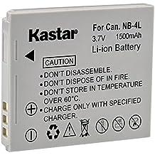 Kastar NB-4L Battery (1-Pack) for Canon PowerShot SD40, SD30, SD200, SD300, SD400, SD430, SD450, SD600, SD630, SD750, SD780, SD940, SD960, SD1000, SD1100, SD1400, TX1, ELPH 100, 300, 310, 330, VIXIA