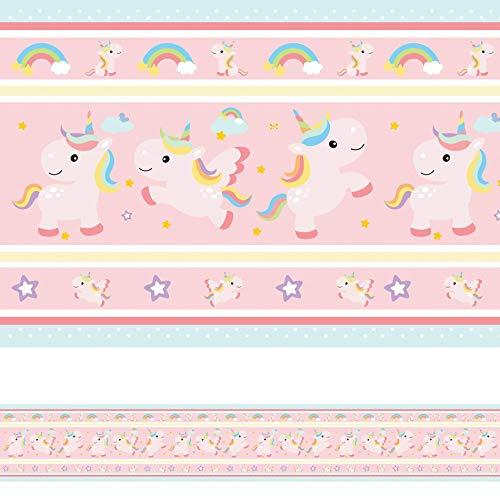 Faixa Decorativa Adesiva Infantil Unicórnio 6mx15cm