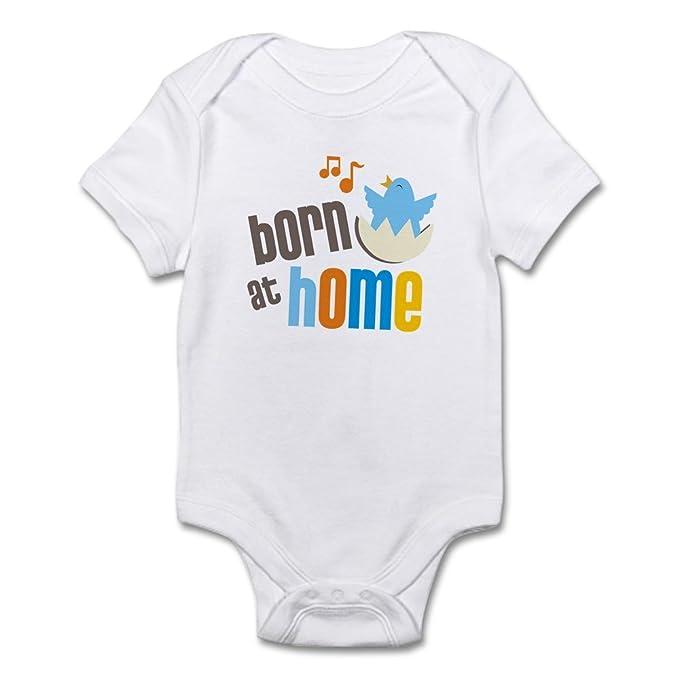 eacfffa4e CafePress born at home Body Suit Cute Infant Bodysuit Baby Romper Cloud  White