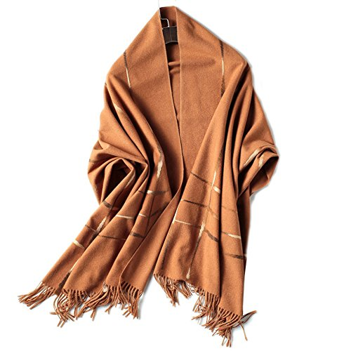 (Women's Pashmina Long Scarf Thick Soft Winter Wool Wraps Lady Cotton Shawls Thin Spting Autumn Warm (Brown))