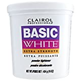 Bleaching Hair Powder Lightener - CLAIROL Professional Basic White Extra Strength Powder Lightener 1lb/454g