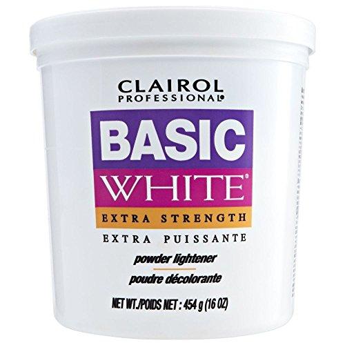 CLAIROL Professional Basic White Extra Strength Powder Lightener 1lb/454g - Bleaching Powder