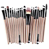 #7: Clearance Deals Makeup Brush Set,Laimeng_world 2018 Professional Fashion 20pcs Make up Brushes Kits Cosmetic tools Kit Valentine Gift (F)