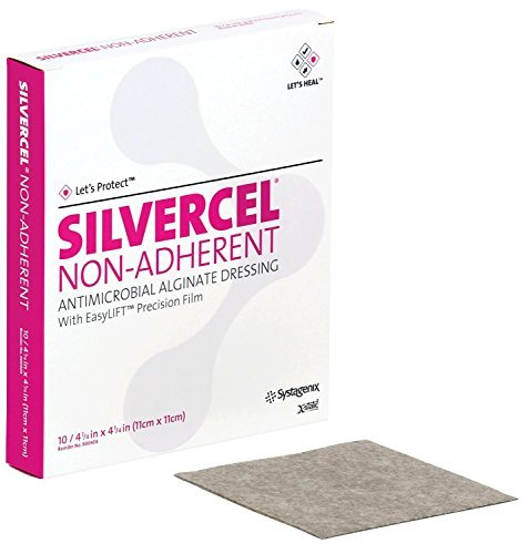 53900404 - Silvercel Non-Adherent Antimicrobial Alginate Dressing 4-1/4 x 4-1/4 by Systagenix Wound Management