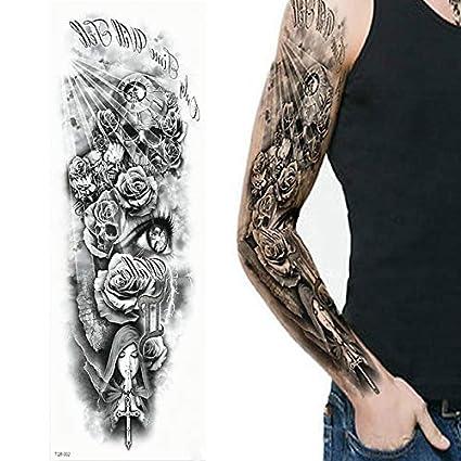 Etiqueta engomada del tatuaje temporal a prueba de agua Sexy Black ...