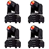 Eyourlife 4Pcs 10W Moving Head DMX512 Light Mini Party Dj Disco Club Led Display