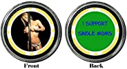 Card Guard - I Support Single Moms Protector Holdem Poker Chip/Card Cover