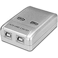 TNP 2 Ports USB Switch Box Switcher Selector USB 2.0 Hot-Key Sharing Adapter Hub for PC Mac Computer Scanner Printer Projector Camera Keyboard External Hard Drive & Device with USB-A Interface