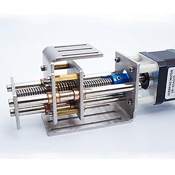 Bricolaje Cnc máquina de grabado Z Axis Slide Rails Mini varilla roscada deslizante mesa con lineal Rail Carrera 60 mm: Amazon.es: Amazon.es