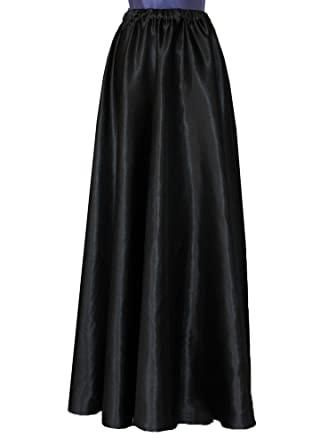 E K Women's satin maxi skirt Long formal & evening flowing skirt ...
