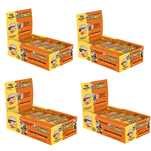 Honey Stinger Peanut Butta Protein Bars, 1.5 oz Each, Pack of 60: Made with Organic Honey, Chocolate and Peanut Butter