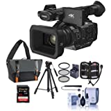 Panasonic HC-X1 4K Ultra HD Professional Camcorder with Leica Dicomar Lens, 20x Optical Zoom - Bundle with Video Case, 32GB SDHC U3 Card, Tripod, Cleaning Kit, 67mm Filter Kit, Memory Wallet, Capleash
