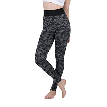 Amazon.com: Womens High Waist Printed Yoga Pants Comfort ...