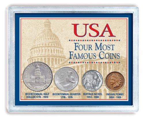 کلکسیون 4 سکه از مشهورترین سکه های پول ایالات متحده آمریکا محصول American Coin Treasures. |