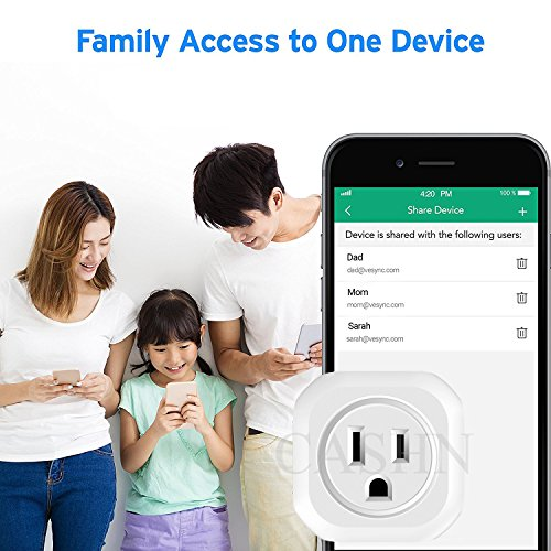 ACASHNA HS108 Smart Plug, No Hub Required, Wi-Fi, Control your Devices from Anywhere, Works Amazon Alexa Echo and Google Assistant (2Pack) by ACASHNA (Image #5)