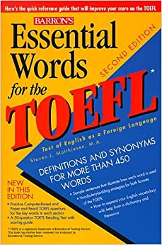 Book Essential Words for the TOEFL (Barron's Essential Words for the TOEFL) by Steven J. Matthiesen (1999-02-01)