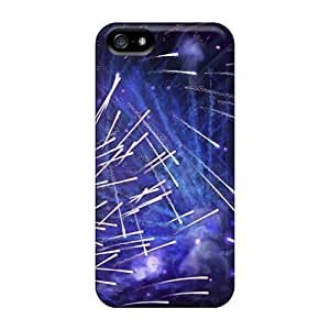 Fashionable Style Case Cover Skin For Iphone 5/5s- Blue New Year Fireworks
