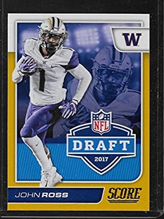 cf188ff0 Amazon.com: 2017 Score NFL Draft Gold #11 John Ross: Collectibles ...