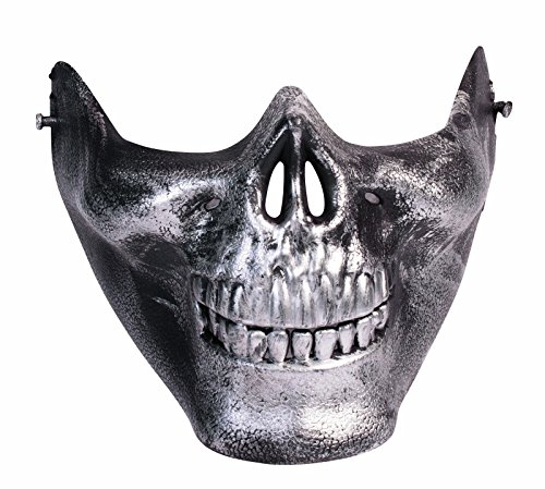 Furiosa Mad Max Costume (Men's Immortan Joe Skull Half Mask (Silver))