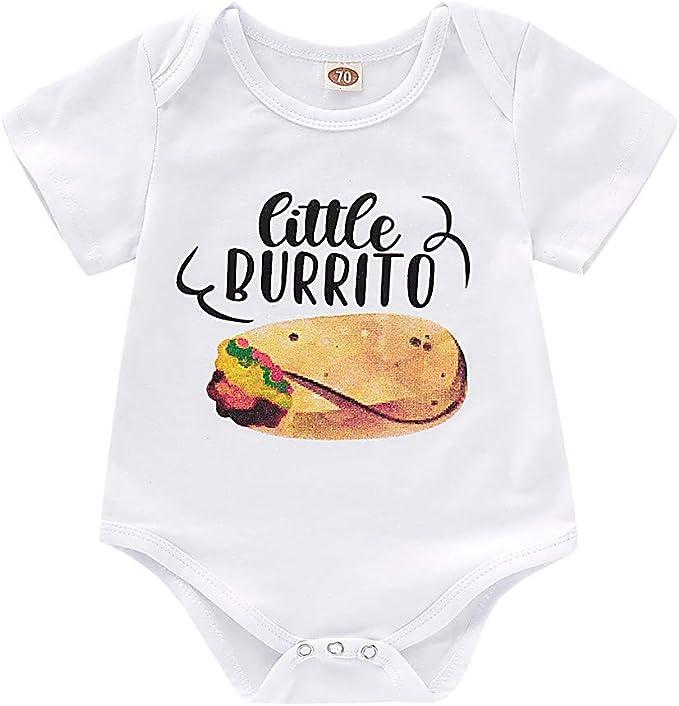 LOPILY Bebé Recién Nacido Bebé Letra Pequeño Hamburguesa Mameluco ...
