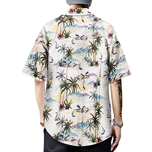- JJLIKER Men's Graphic Print Beach Shirts Aloha Hawaiian Button Down Shirt Summer Hipster Hip Hop Tops Tee