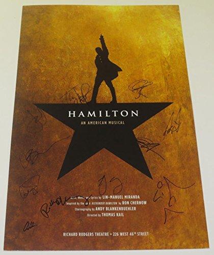 HAMILTON THE MUSICAL CAST SIGNED POSTER X11 BROADWAY THEATER LIN MANUEL MIRANDA