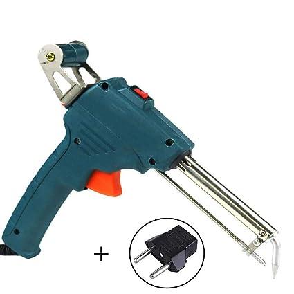 Mano Soldadura Pistola Semi-Automática Soldadura Antorcha Herramienta Rápida Calefacción Estaño Alambre Soporte Verde Azul