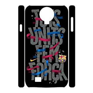 3D Samsung Galaxy S4 Cases FC Barcelona Quotes Together We Are Strong, Hardshell FC Barcelona Cases Bloomingbluerose, {White}