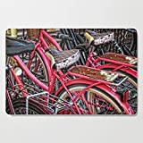 Society6 Wooden Cutting Board, Rectangular, Twins - Bicycle Art By Sharon Cummings by sharoncummings