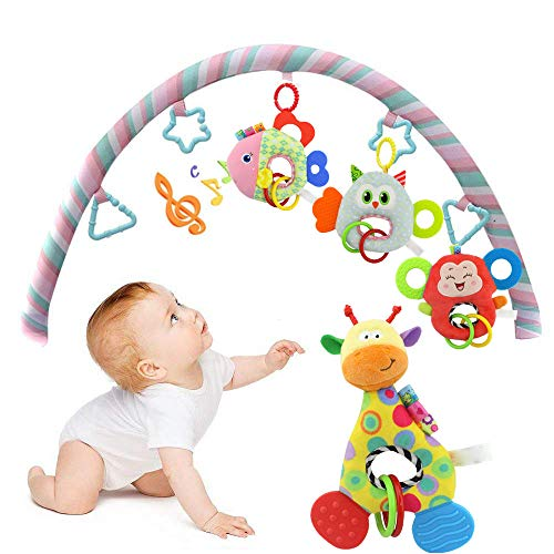 SiQing Multicolor Newborn Baby Infant Animal Soft Rattles Teether Hanging Bell Plush Bebe Toys ()