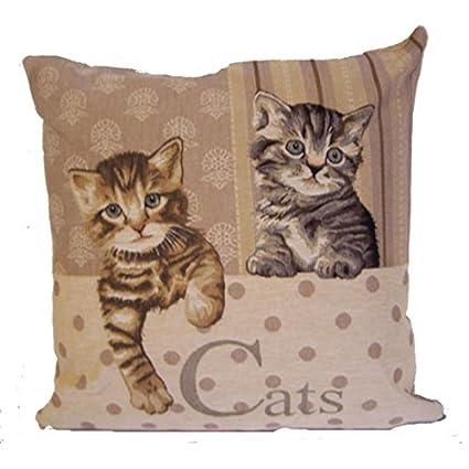 Cojines del sofá y funda de almohada de 45 x 45 cm con diseño de gatos