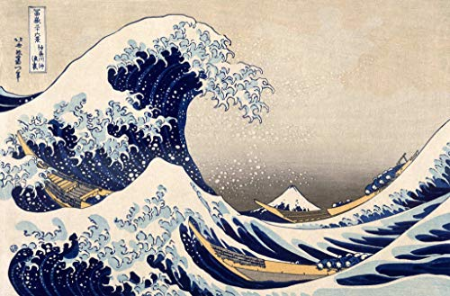 kunst für alle Art Print/Poster: Katsushika Hokusai Great Wave Kanagawa from from Series 36 Views Mt Fuji... Picture, Fine Art Poster, 39.4x25.6 inch / 100x65 cm