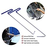 Super PDR 2Pcs Professional PDR Rod kit Hail Damage Repair Tool Auto Car Body Paintless Dent Removal Repair Tool Dent Puller Kit