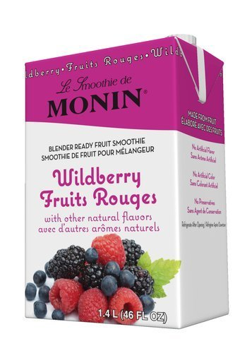 Monin Wildberry Smoothie Mix 46 Fl Oz.