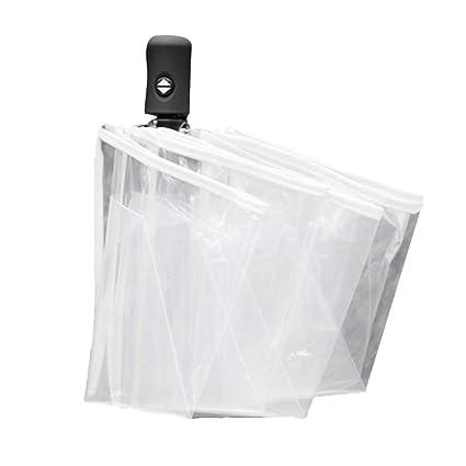 Paraguas transparente plegable