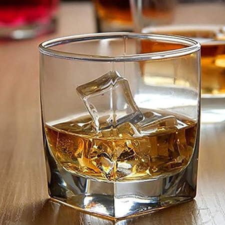 Tcbz Juego de 4 Vasos de Whisky, Vasos de Bourbon para cócteles Antiguos, Vasos de Whisky, cristalería Rocks