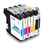FreeSUB High Yield Compatible Ink Cartridge Replacement for Brother LC-103XL (1 Black, 1 Cyan, 1 Yellow, 1 Magenta) 4 Pack