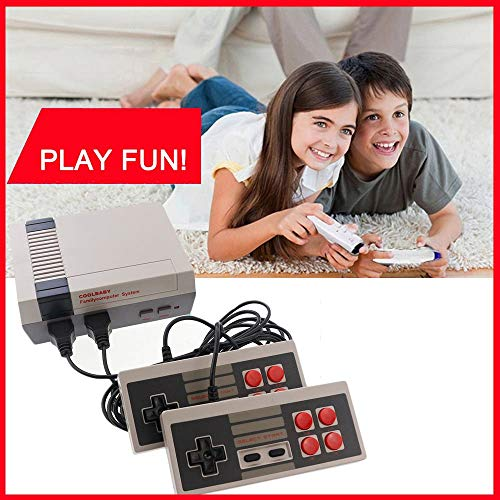 Mini Classic Game Consoles Mini Retro Game Consoles Built-in 600 Games Video Games Handheld Game Player AV Out Cable 8-Bit Bring you happy childhood memories