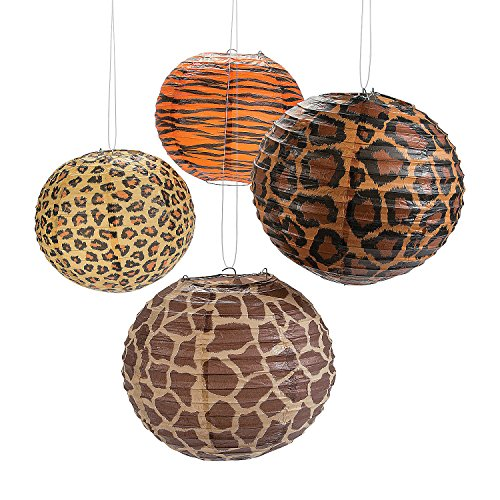 Fun Express - Paradise Safari Paper Lanterns for Party - Party Decor - Hanging Decor - Lanterns - Party - 12 Pieces]()