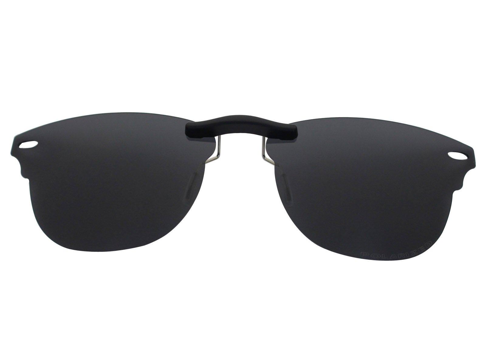 Custom Fit Polarized CLIP-ON Sunglasses For Ray-Ban RB5154 51X21 Black by COODY