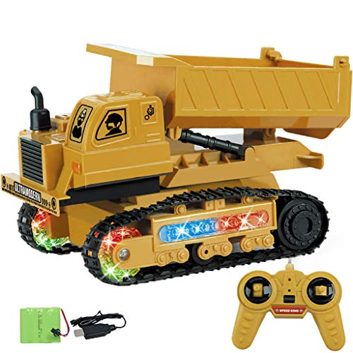 Price comparison product image Onefa Vehicle Buggy Toy, Excavator 1:24 RC 4-Channel Tractor Truck Digger Car 2.4G Remote Control Engineering Vehicle Buggy Toy (C)