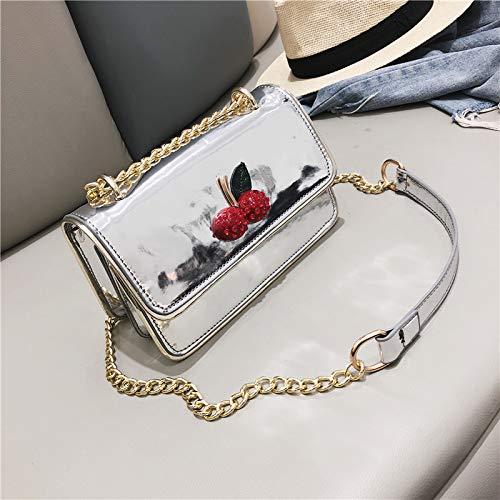 in tracolla borsa femminile WSLMHH quadrata tracolla vernice versione Borsa borsa brevettata laser argento argento a coreana piccola tracolla marea della a 11waS8