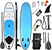 DAMA Inflatable Stand up Paddle sup Board Board,fin,Carry Bag,Paddle,Hand Pump,Leash,Repairing kit,mobilephone