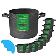 #LightningDeal 81% claimed: 10-Pack 5 Gallon Grow Bags for Potato/Plant Container/Aeration Fabric Pots with Handles (Black)