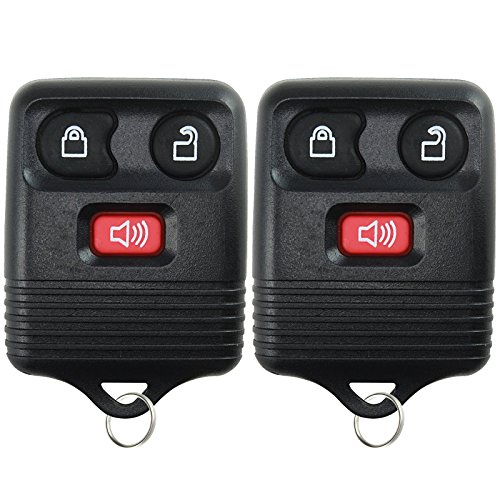 2 Replacement Keyless Entry Remote Control Key Fob Clicker Transmitter 3 Button - Black (1999 Toyota Camry)